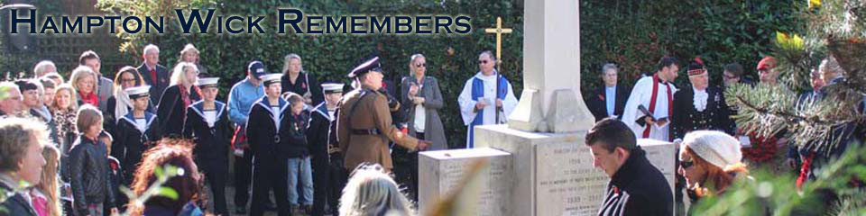 Header image Hampton Wick Remembers