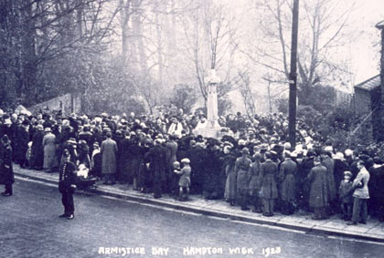 Armistice Day Hampton Wick 1923